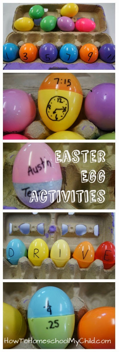 http://howtohomeschoolmychild.com/learning-games-with-kids-plastic-easter-egg-activities/