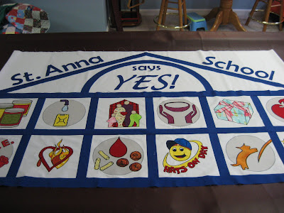 School Charity Banner ~ Top with Words