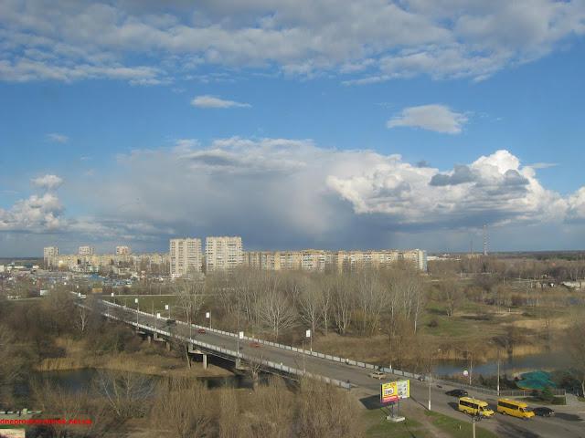 Днепродзержинск. Улица 40 лет Победы 2. Вид с 9-го этажа.