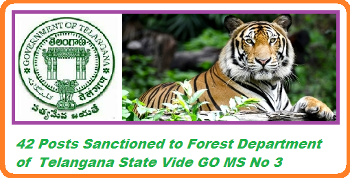 TS Forest Department Recruitment Posts Details Go.3