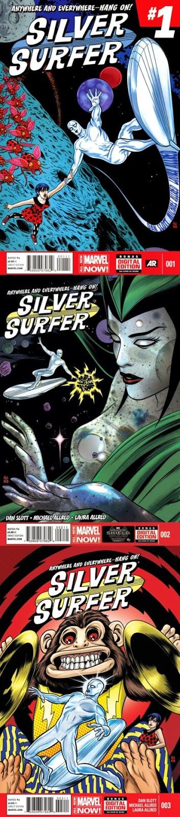Silver Surfer # 1, 2 3 - Dan Slott Mike Allred