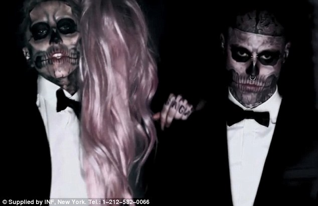 lady gaga born this way skeleton tattoo. lady gaga born this way tattoo