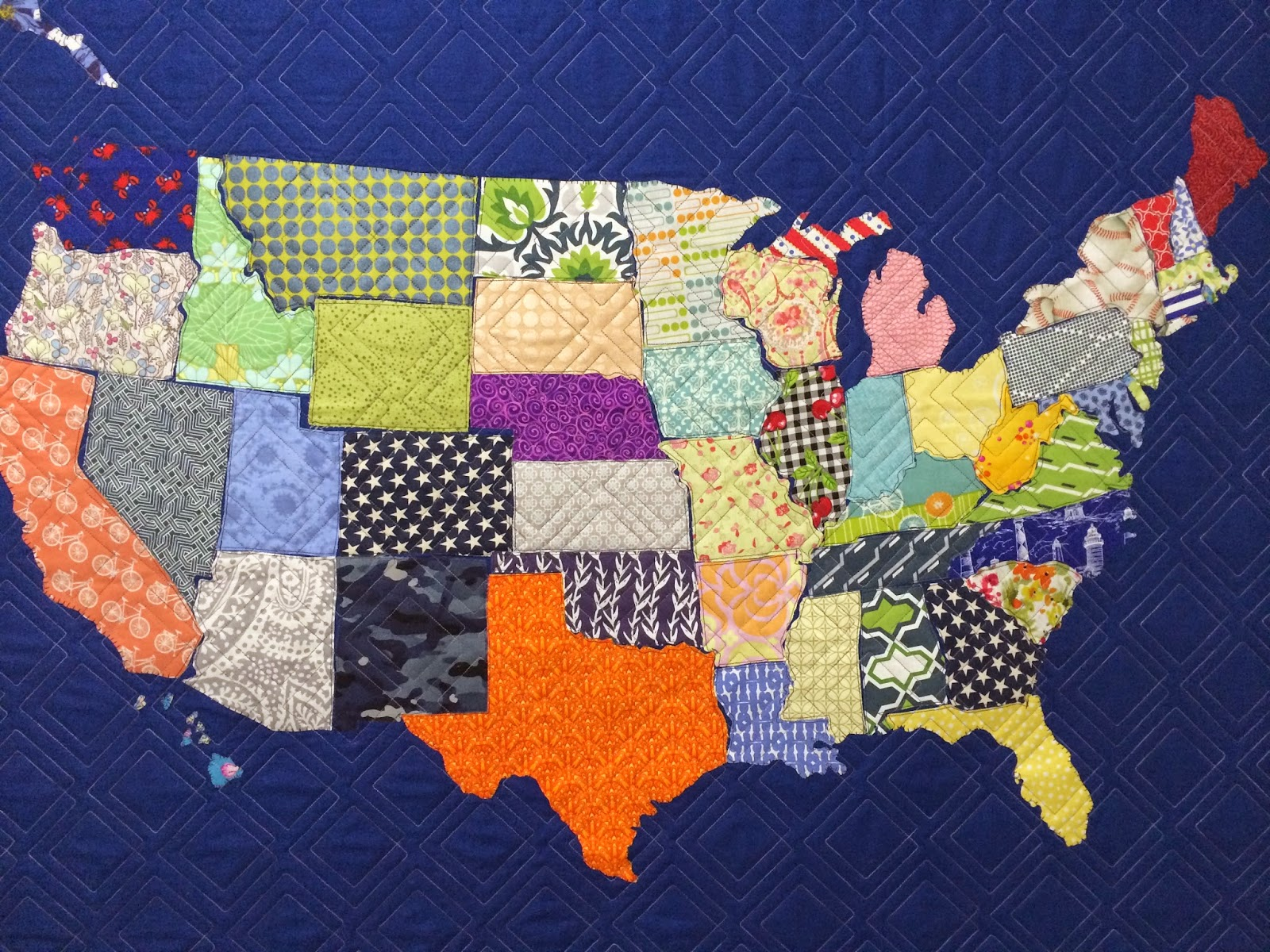 Karen Natale's Scrappy United State Map Quilt