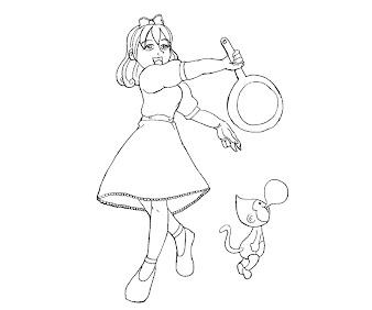 #8 Paula Coloring Page