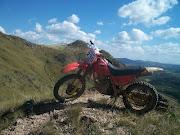 Honda NX 150 de trilha, fotos na serra de Tres Pontas