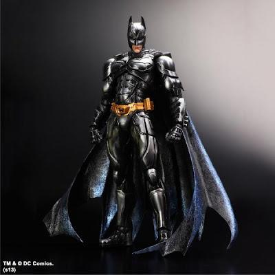 San Diego Comic-Con 2013 Exclusive Black Metallic Batman The Dark Knight Trilogy Action Figures by Play Arts Kai & Square Enix