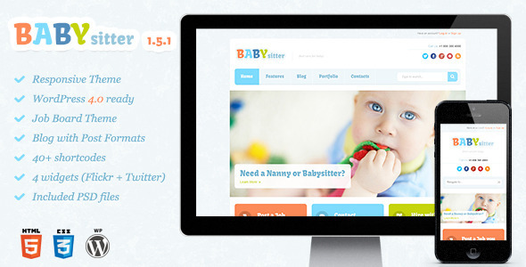 Babysitter v1.5.1 – Responsive WordPress Theme