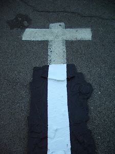 YNG, Road collage (with a cross), Heftzi-bah, 2013