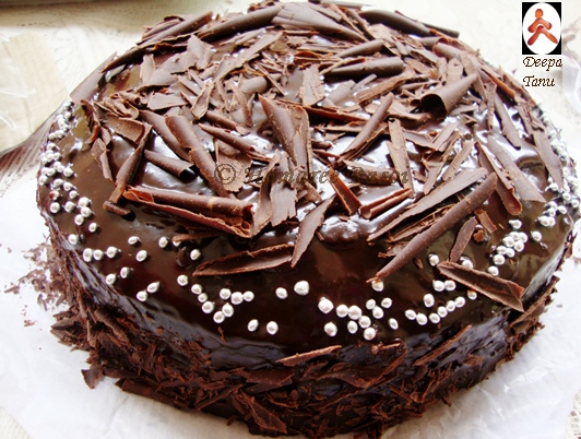Rasoi 200th post best moist chocolate cake with chocolate ganache