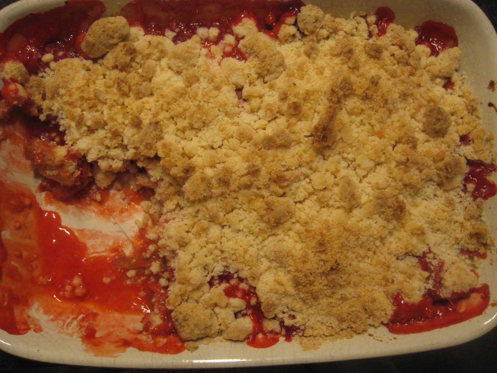 Domestic Bliss: Strawberry Rhubarb Crumble