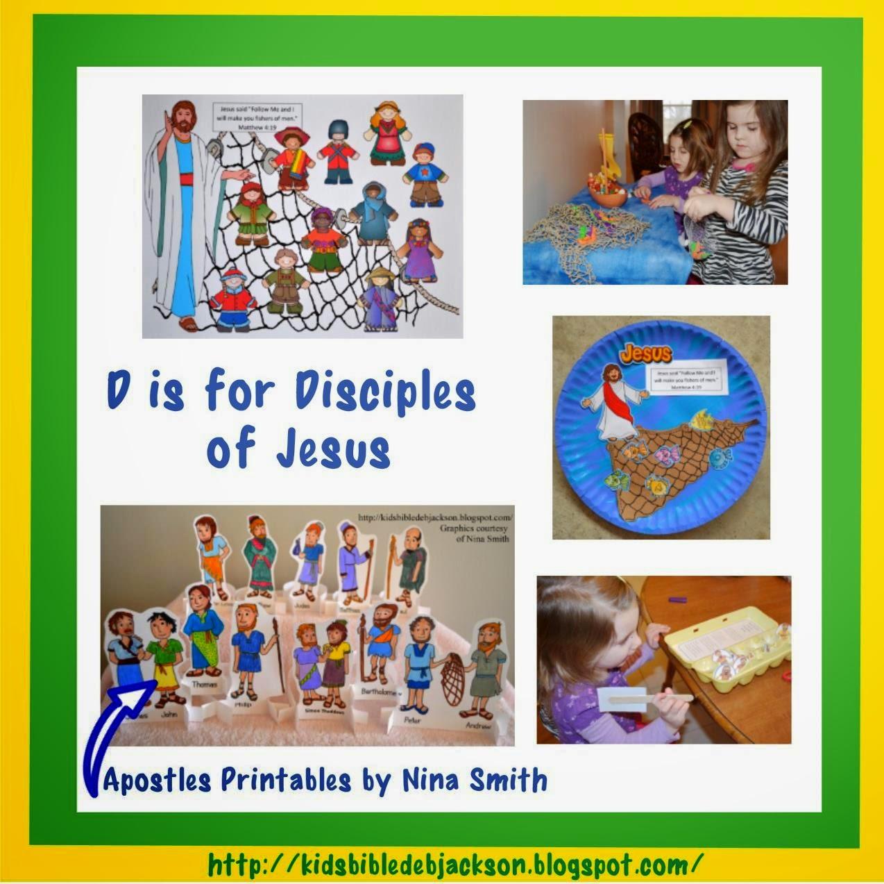 http://kidsbibledebjackson.blogspot.com/2014/03/preschool-alphabet-d-is-for-disciples.html