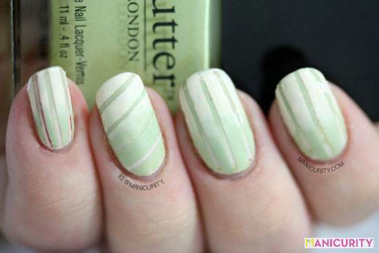 Manicurity | Lime Crime Milky Ways and butterLondon Bossy Boots Reciprocal Gradient nail art