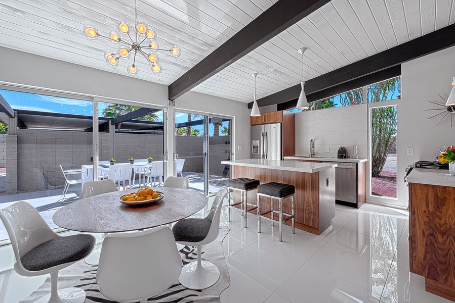 professionally staged Dining room and kitchen