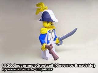 LEGO Papercraft Gouverneur Grootzeil (Governor Broadside)