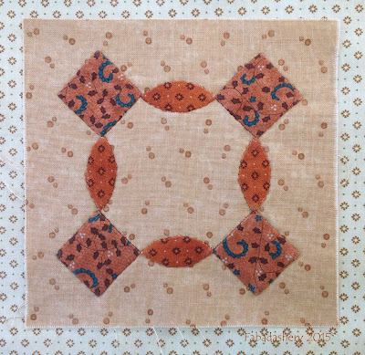 Dear Jane Quilt - Block F-5 Parcheesi