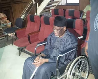 Haliru Bello arrives court in wheelchair as corruption trial begins