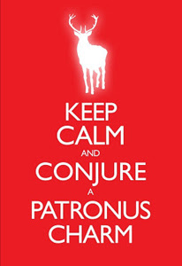 Keep Calm and Conjure A Patronus Charm Poster
