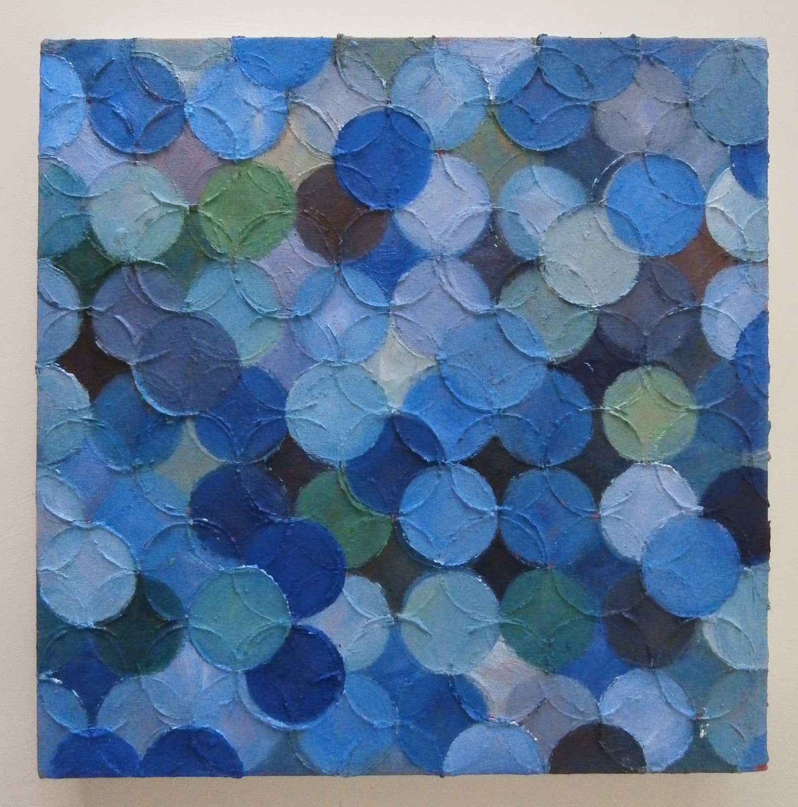 blue circle painting, kate mackay, art, geometric abstraction, non objective, fire station gallery, dubbo