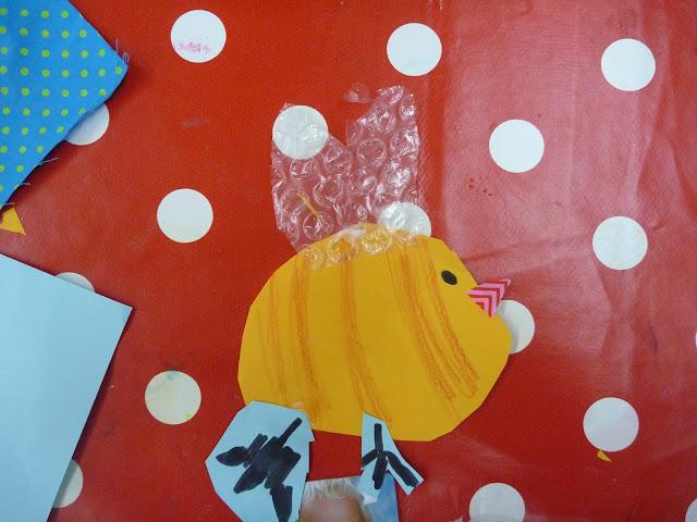 Vögel aus Papier und Stoff