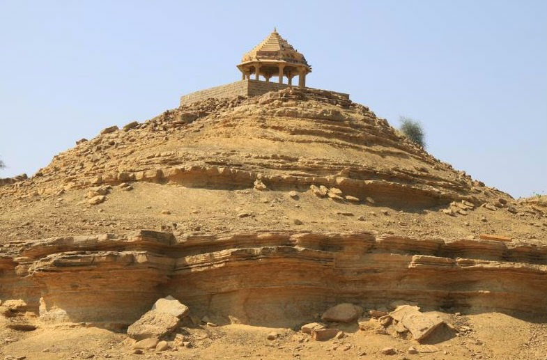 One of the magnificient structures in the barren wilderness of Kuldhara