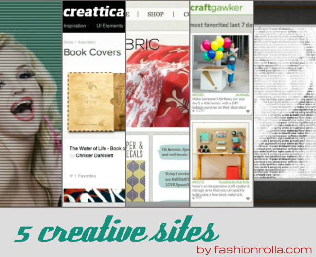 5 creative sites discovered by Xenia Kuhn for fashionrolla.com