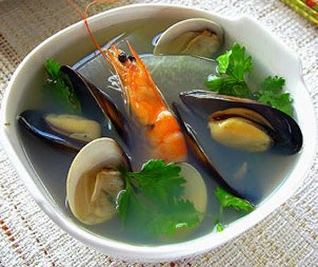 Canh hải sản bí đao