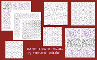Creating texture. New Modern quilting desings