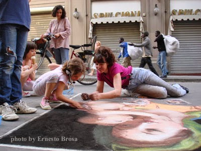 clandestini, Florence scene, recreate masterpieces, Renaissance Art, street painting, Book:  My Life as a Street Painter in Florence, Italy