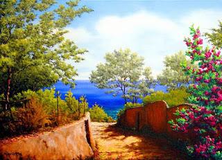Paisajes de Flores Hermosas Pinturas