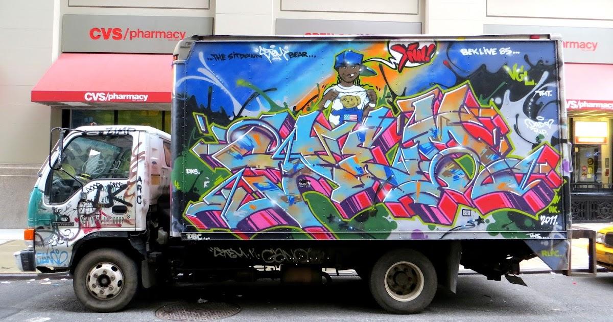 nyc corners  graffiti truck  union square   august 2013