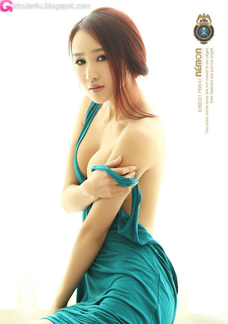 1 Sexy An Rui Tian - Wearing the Curtains-very cute asian girl-girlcute4u.blogspot.com