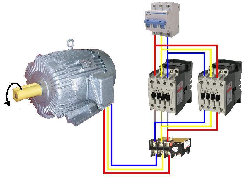 Single phase reversing contactor wiring diagram get free for Reversing switch for single phase motor