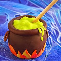 Caramel Apple Cauldrons