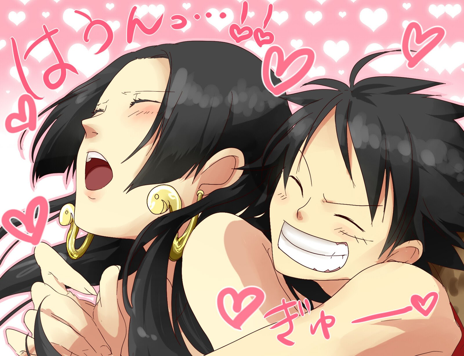 Boa Hancock Luffy Sweet Hug 0825 HD Wallpaper