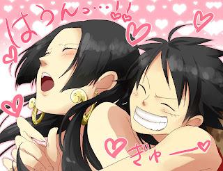 One Piece Boa Hancock Monkey D. Luffy Anime Lover Couple Hug Heart HD Wallpaper Desktop Background