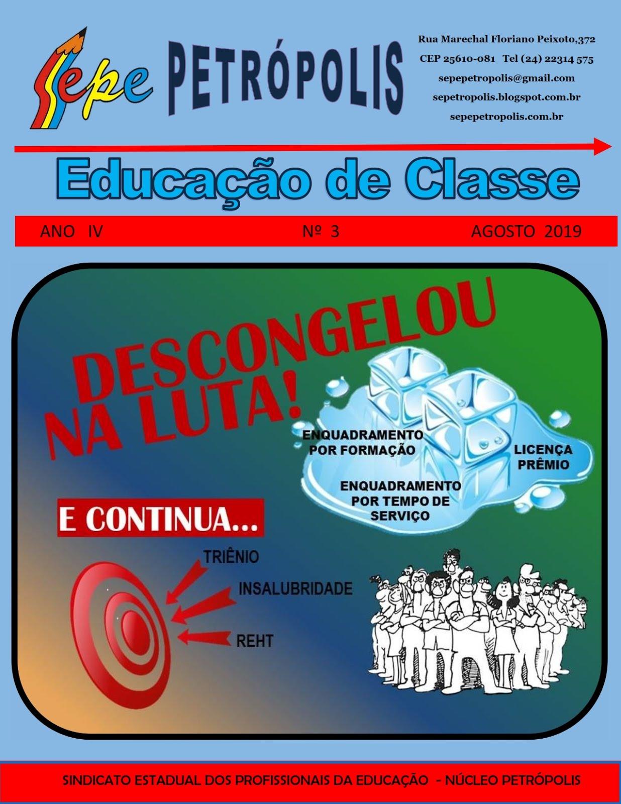 REVISTA EDUCAÇÃO DE CLASSE AGOSTO 2019