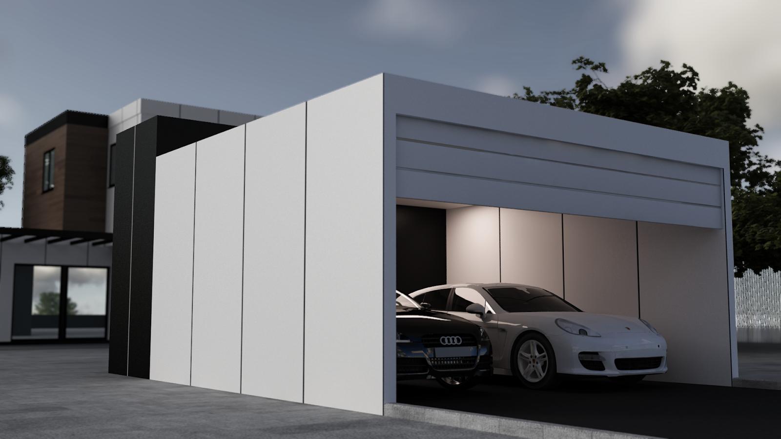 Garajes exteriores para coches trendy marquesina teja for Garaje de ideas