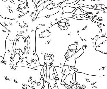 Free Autumn Coloring Pages4