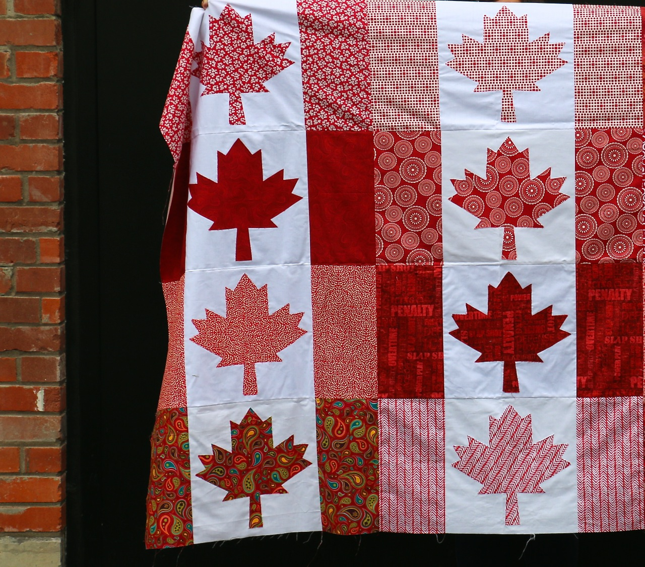 Dining Room Empire: Oh Canada Quilt - In Red : canadian quilting stores - Adamdwight.com