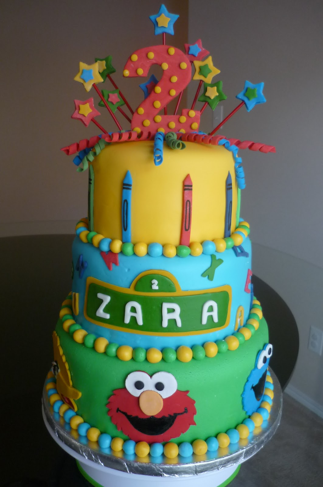 Birthday Cakes With Name N Photo ~ Cakes n bakes sesame street birthday cake
