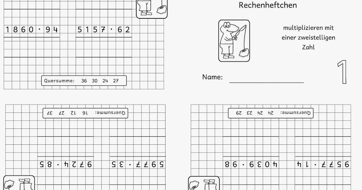 lernst252bchen rechenheftchen schriftliche multiplikation 3