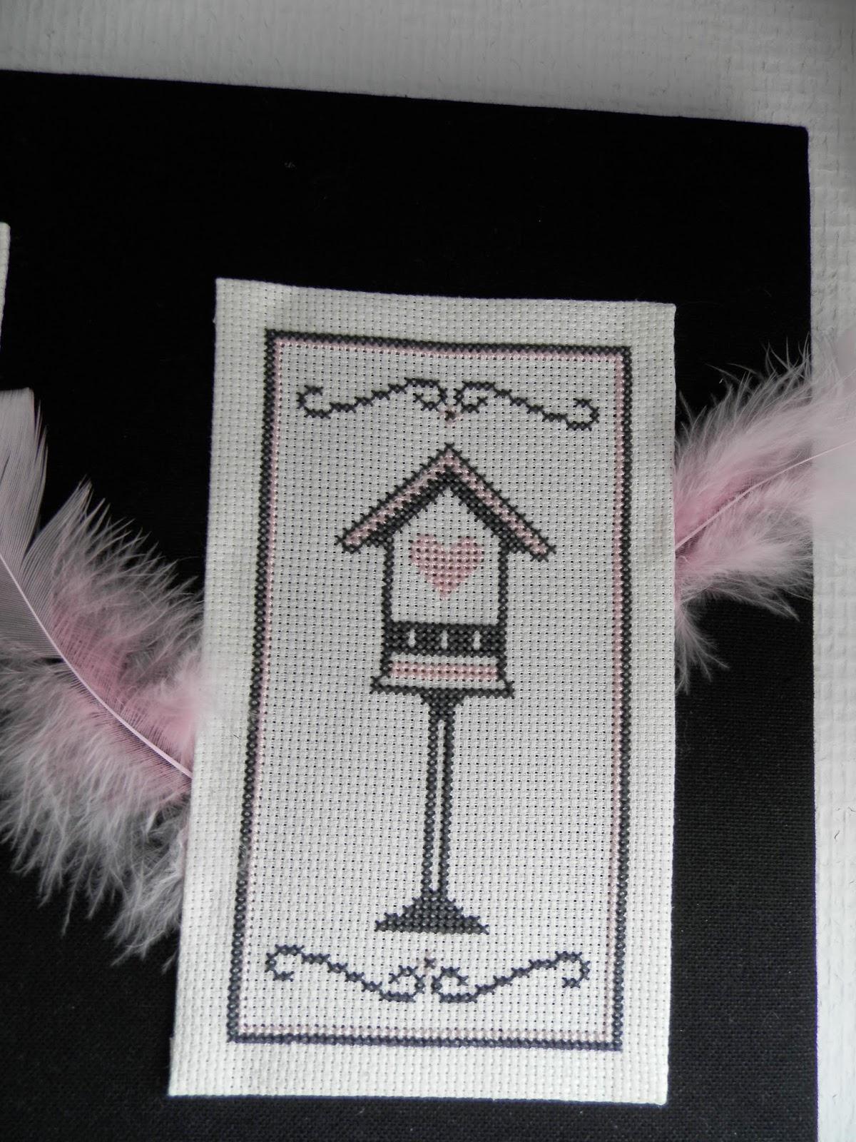 Coton et Création, customisation d'un tableau en point de croix