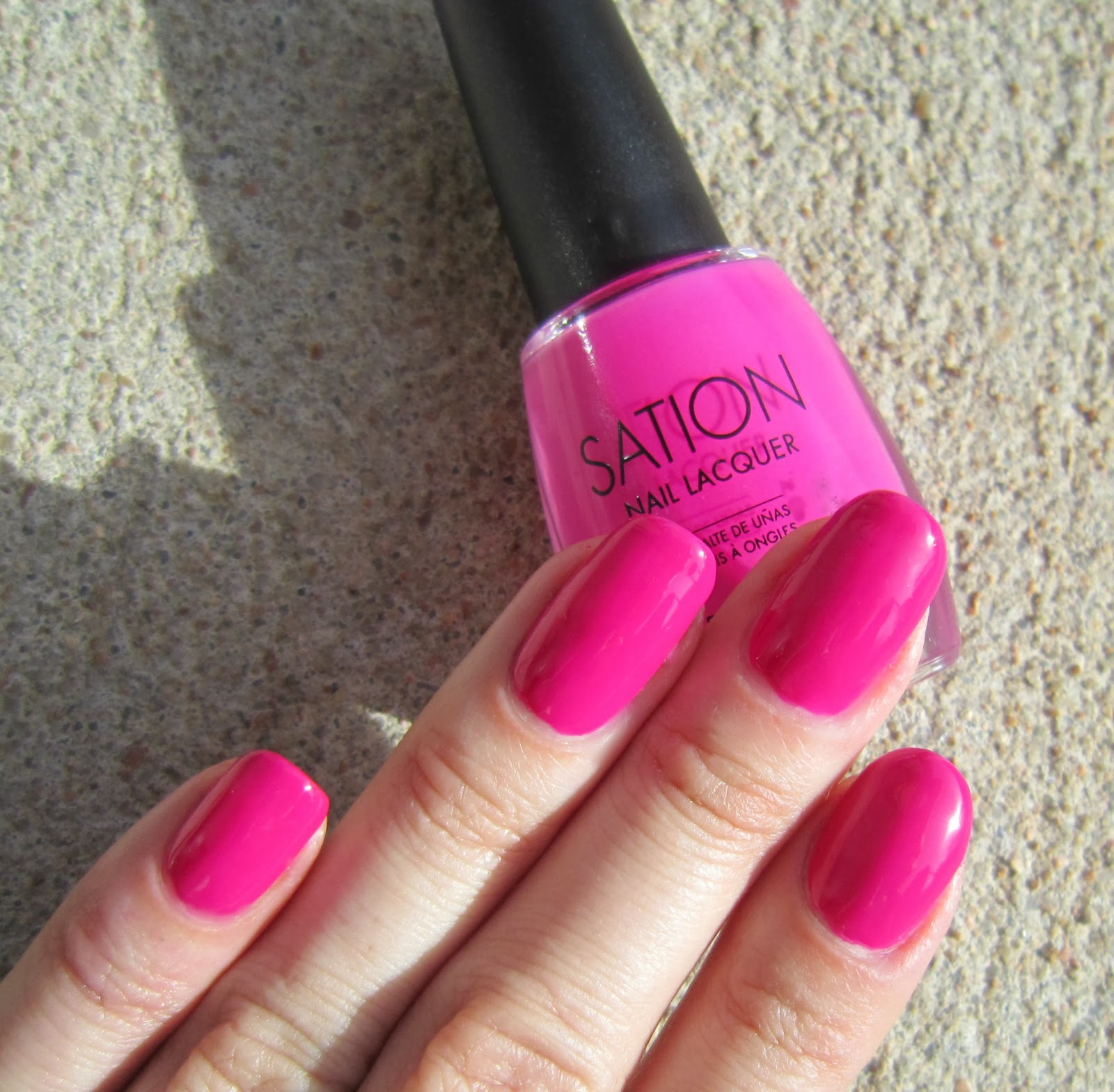 Sation Nail Polish: Concrete And Nail Polish: Sation Queenie In A Bottle