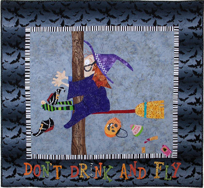 Quilt Inspiration: Fun Halloween quilts: Don't Drink and Fly : vanilla latte quilts - Adamdwight.com