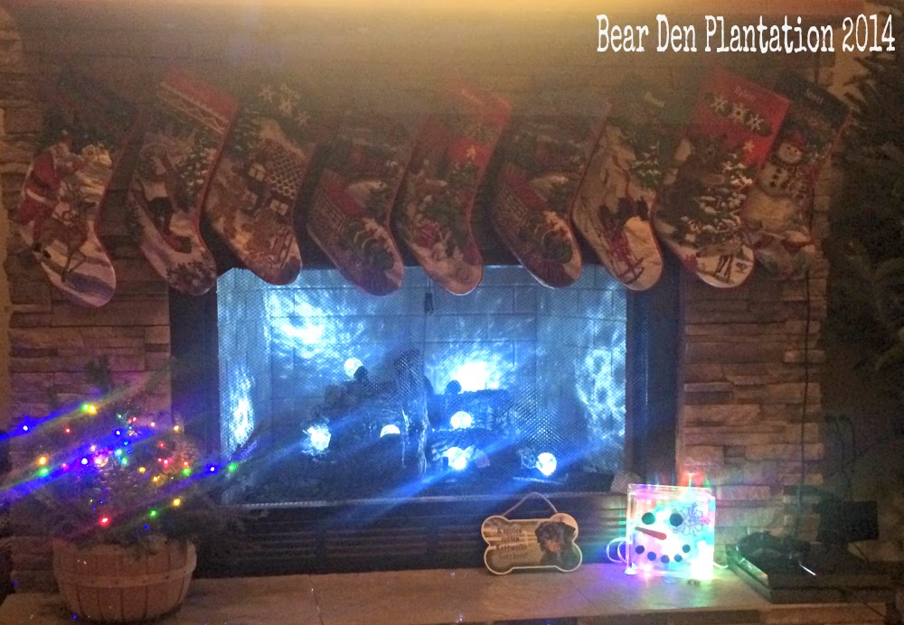 Christmas 2014 Fireplace DIY decor