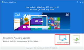 System GoBack Free prepare-to-upgrade