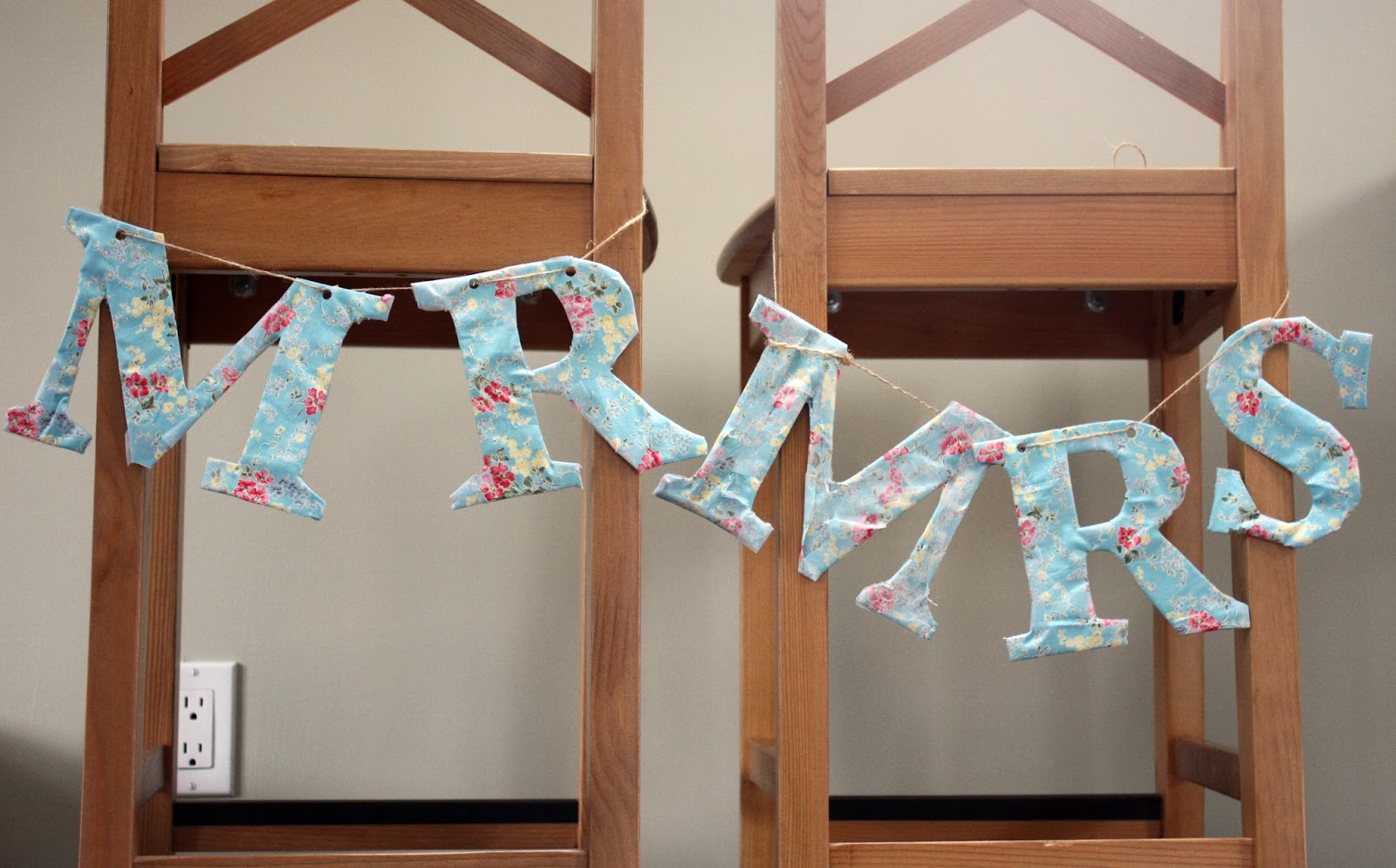 Wedding seat sign letters