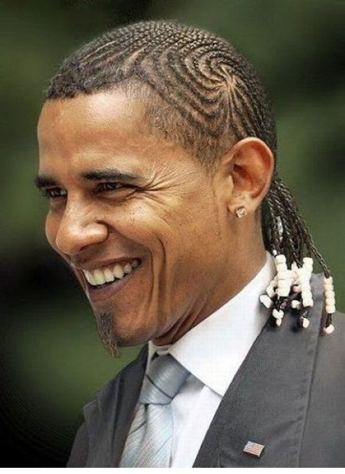 Obama african Clinton george bush Obama funny pictures with braids