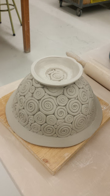 Coil bowl in progress - pottery by Lily L.