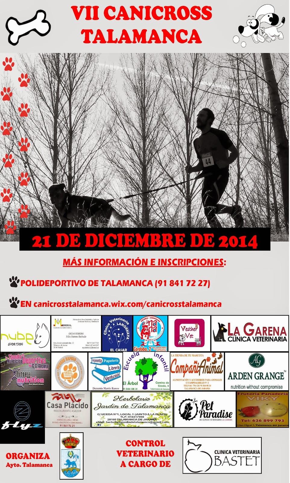 Canicross Talamanca 21-12-2014 CARTEL%2Bcanicross%2BTalamanca%2B2014